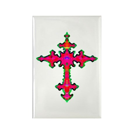 Jewel Cross Rectangle Magnet (10 pack)