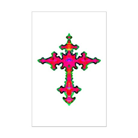 Jewel Cross Mini Poster Print