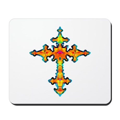 Jewel Cross Mousepad