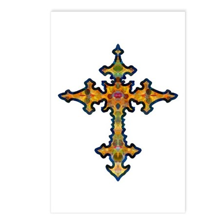 Jewel Cross Postcards (Package of 8)