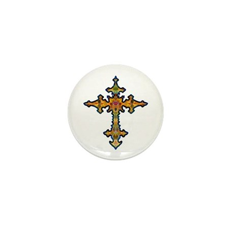 Jewel Cross Mini Button (10 pack)