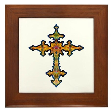Jewel Cross Framed Tile