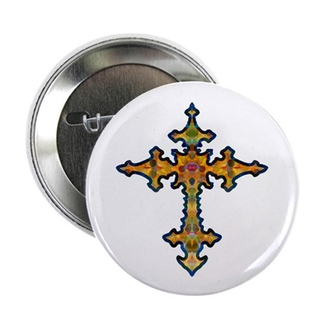 "Jewel Cross 2.25"" Button (10 pack)"