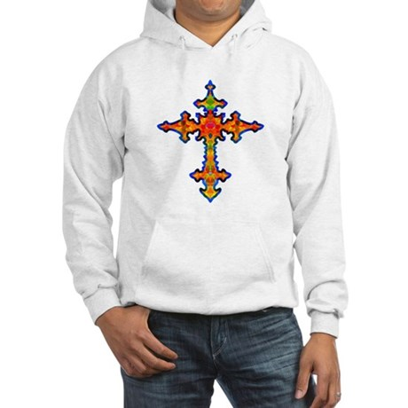 Jewel Cross Hooded Sweatshirt