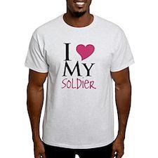 Unique I heart my soldier T-Shirt