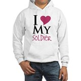 Cool I love my soldier Hoodie