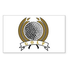 Classic Golf Emblem Rectangle Decal