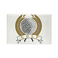 Classic Golf Emblem Rectangle Magnet (100 pack)