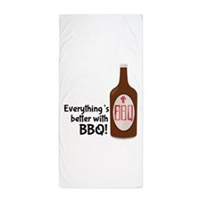 Better With BBQ! Beach Towel
