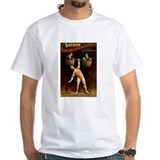 HUMAN DUMBELL white t-shirt