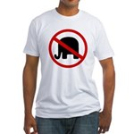 No GOP Elephants! Fitted T-Shirt