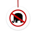 No GOP Elephants! (Round Ornament)