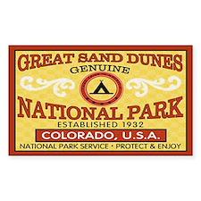 Great Sand Dunes NationalParkRectangle Decal