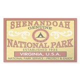 Shenandoah National Park Rectangle Decal