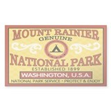 Mount Rainier National Park Rectangle Decal