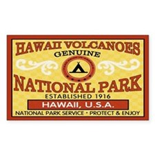 Hawaii Volcanoes NationalParkRectangle Decal