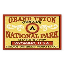 Grand Teton National Park Rectangle Decal