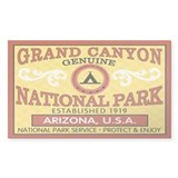 Grand Canyon National Park Rectangle  Aufkleber