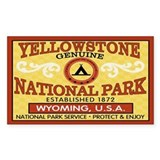 Yellowstone National Park Rectangle Decal