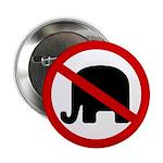 Red Slash Through a GOP Elephant (Button)