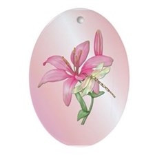 Lily Serenade Oval Ornament