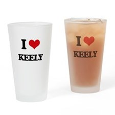 I Love Keely Drinking Glass