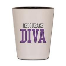 Decoupage DIVA Shot Glass