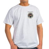 USS JFK (CV 67) &quot;Proud Veteran&quot; Ash Grey T-Shirt