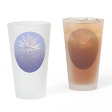 Lotus Flower Reflected Drinking Glass