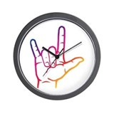 Rainbow I Love You Wall Clock