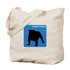 English Bulldog (clean blue) Tote Bag
