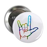 "Rainbow Burst I Love You 2.25"" Button (100 pack)"