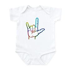 Rainbow Burst I Love You Infant Bodysuit
