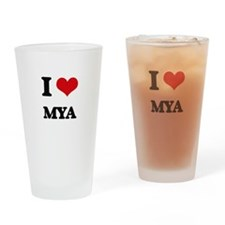 I Love Mya Drinking Glass