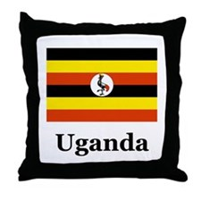 Ugandan Throw Pillow