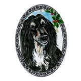 Afghan Hound Oval Ornament
