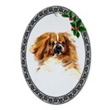 Tibetan Spaniel Oval Ornament