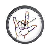 Tiedye I Love You Wall Clock