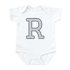 Monogram Initial R - Baby Onesie Body Suit