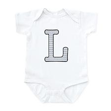 Monogram Initial L - Baby Onesie Body Suit