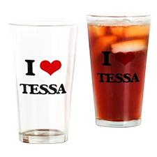 I Love Tessa Drinking Glass