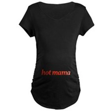 hot mama in red writing T-Shirt