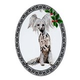 Chinese Crested Dog Oval Ornament