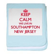 Keep calm we live in Southampton New baby blanket