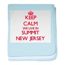 Keep calm we live in Summit New Jerse baby blanket