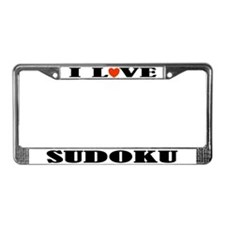 I Love Sudoku License Plate Frame