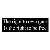 Right to Own Guns Bumper Bumper Sticker
