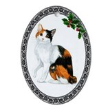 Japanese Bobtail Cat Oval Ornament