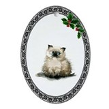 Himalayan Kitty Oval Ornament