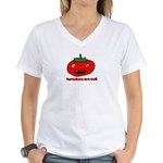 toonmato evil Women's V-Neck T-Shirt